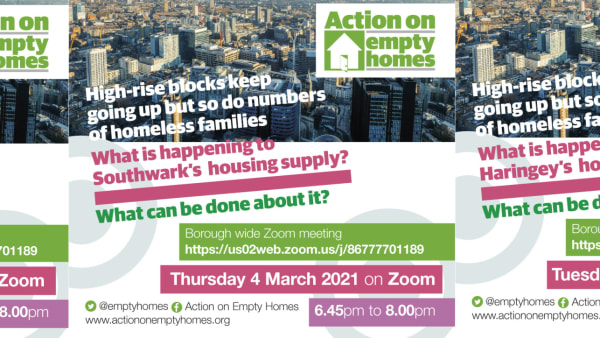 Come to Your Borough Meeting: What is happening to London's Housing?