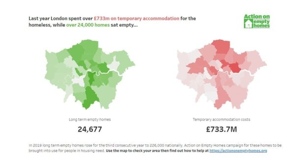 London empty homes mapped
