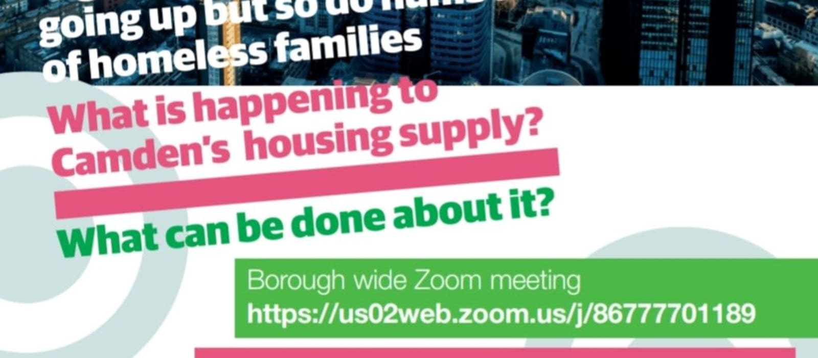 What is Happening to Camden's Housing? Meeting online Tuesday 23rd March
