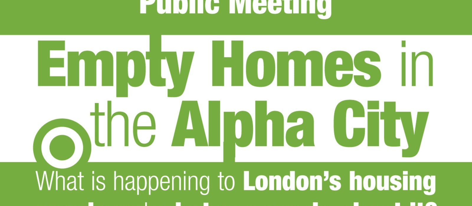 Public Meeting Playback Now Available: Empty Homes in the Alpha City